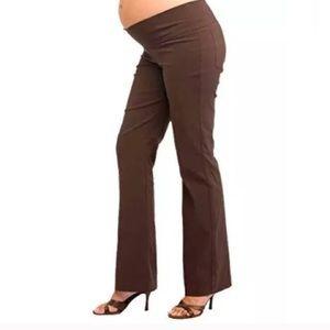 NWT Brown Boot Cut Maternity Pants